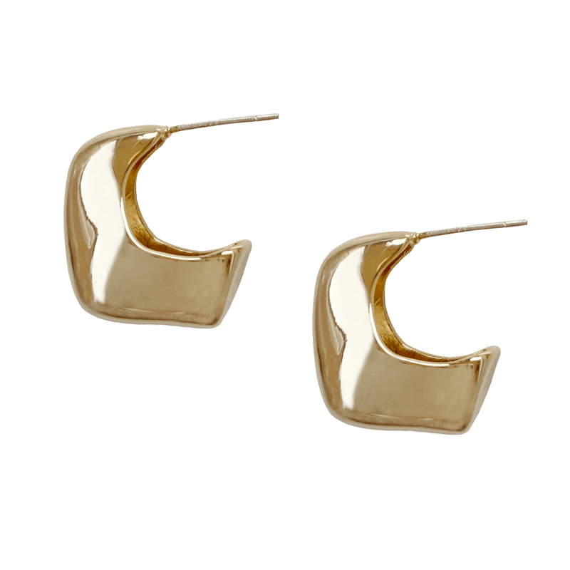 The Puffed Gold Hoop earring