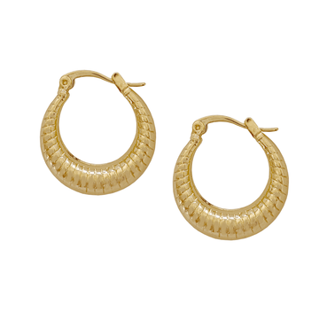 The Reticulate Hoop earring
