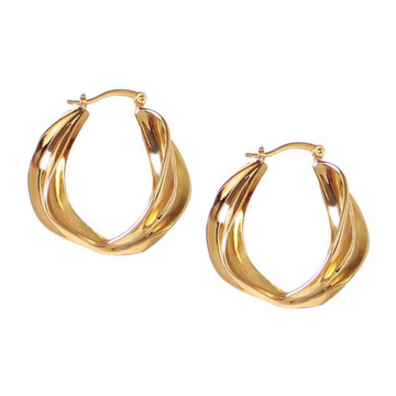 The Scroll Hoop earring