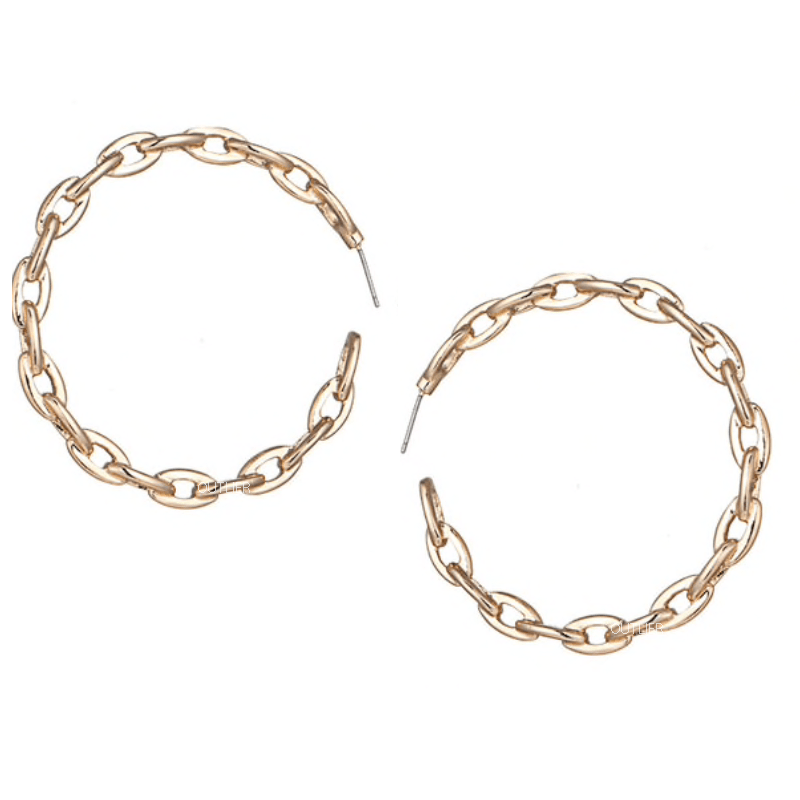 The Cable Hoop earring