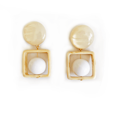 The Newton cradle earring