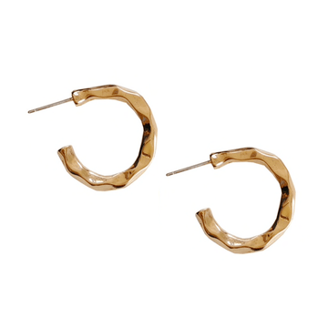 The Hammered Hoop earring