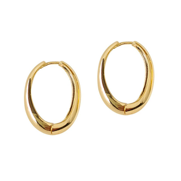 The Chunky Elongated Hoop Earring