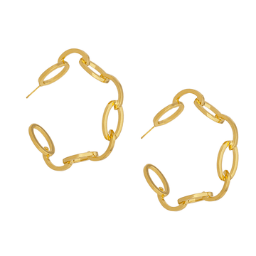 The Oval Link Hoop earring