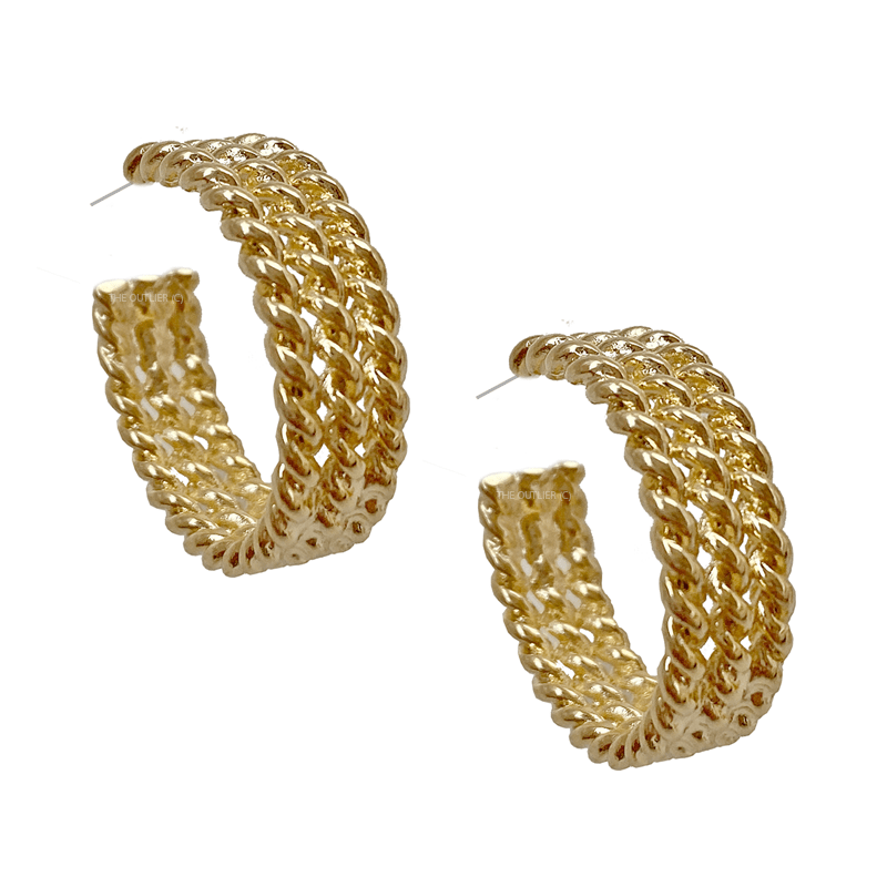 The Triple Chain Hoop earring