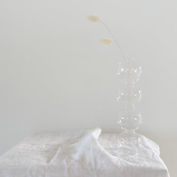 The Clear Bubble Glass Vessel