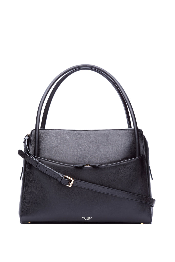 Sleek and functional workbag / business bag - VERDEN STUDIOS - The Skye in volcano black