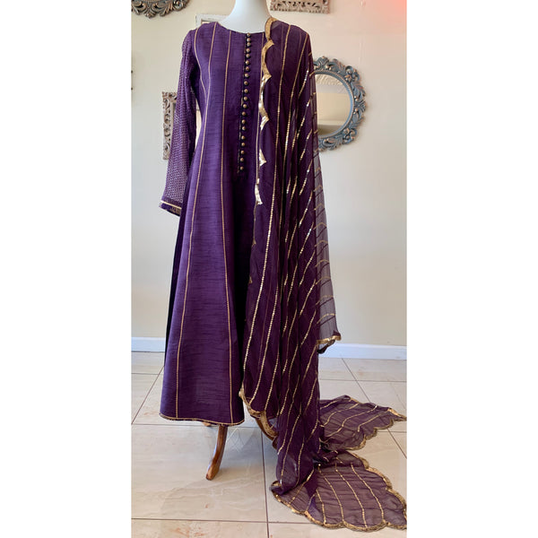 Purple Raw Silk