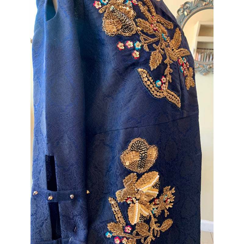 Blue Jamawar Jacket