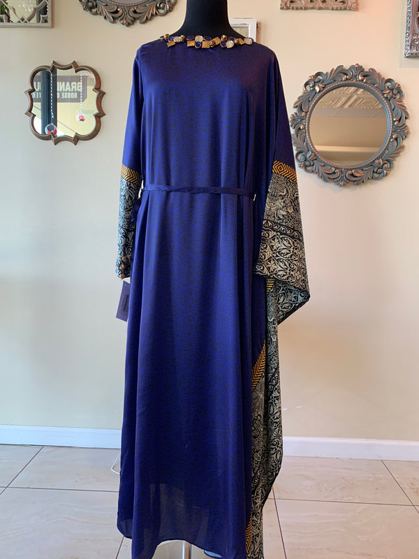 Electric Blue Poncho