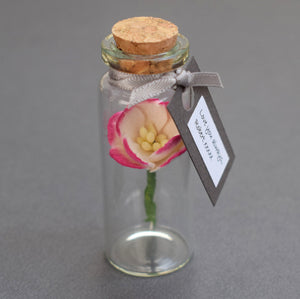 Paper Wedding Anniversary Gift - Personalised Tiny Bottle of Blossom - Made In Words