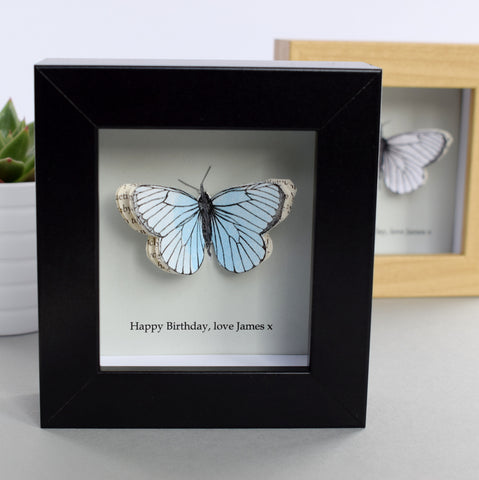 Personalised Mother's Day Gift - Personalised Paper Butterfly Box - Made In Words