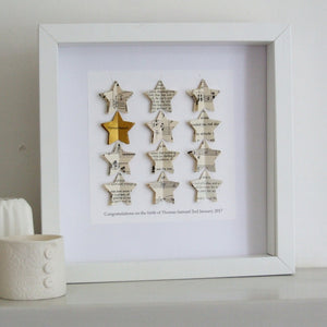 Graduation Gift - Gold Star Personalised Framed Picture - Made In Words