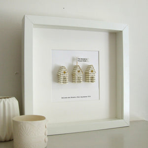New Home Gift - Little Paper Houses Personalised Framed Gift - Made In Words