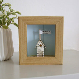 Paper Wedding Anniversary Gift - Little Personalised Paper House Artwork - Made In Words