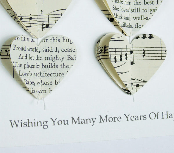 Silver Wedding Anniversary Gift - Personalised Silver Heart Framed Picture - Made In Words