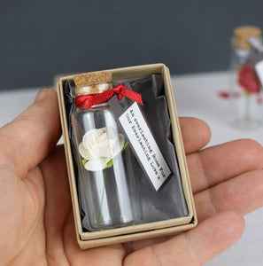 Rose In A Bottle Personalised Love Token