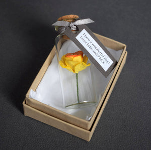 Personalised Mother's Day Gift - Personalised Tiny Paper Daffodil In A Bottle - Made In Words