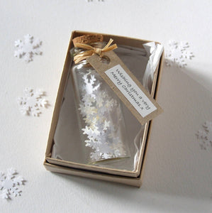 Tiny Personalised Bottle Of Snowflakes - personalised secret santa gift - Made In Words