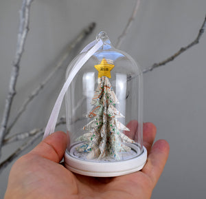 Personalised Christmas Tree Glass Cloche Decoration