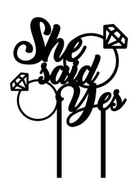 Cake Topper - She Said Yes Ring