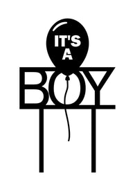 Cake Topper - It's a Boy Balloon
