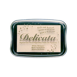 Delicata Ink Pad - White Shimmer