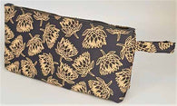 Pencil Bag - Protea - Grey With Beige 29cm x 13cm
