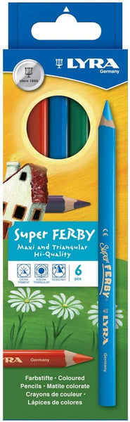 Lyra - Super Ferby Coloured Pencils 6pc