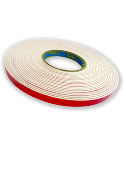 Tape Wormz - White Double Sided Foam Tape - 3mm x 12mm x 10m