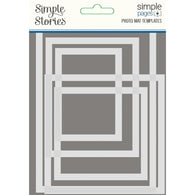 Simple Stories - Simple Pages - Photo Mat Template (5pc)