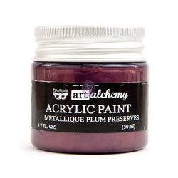 Prima - Metalique Acrylic Paint - Plum Preserves 50ml