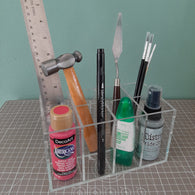 Stationery Holder Acrylic (8 compartments)