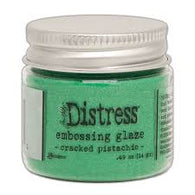 Distress Embossing Glaze - Cracked Pistachio 14g