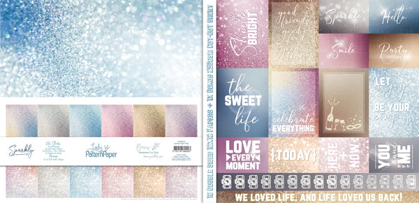 Lady Pattern Paper - Basically Textured - Sparkly Collection Kit