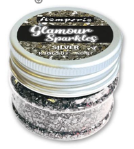 Stamperia - Glass Glitter Glamour Sparkles - Silver 40g