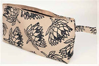 Pencil Bag - Protea - Beige With Black 29cm x 13cm