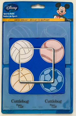 Cuttlebug - Cut & Emboss - Sports Balls