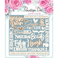 Penelope Dee - Live Love Dream Collection Chipboard - English Sentiments (12,5cm)