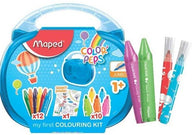 Maped - Creativ Colouring  Kit Case, Crayon/Felt Tip & Poster
