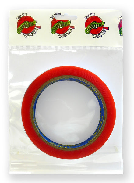 Tape Wormz -  Red Double Sided High Tack Tape - 18mm x 10m