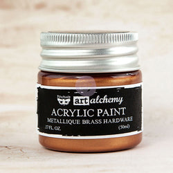 Prima - Metallique Acrylic Paint - Brass Hardware 50ml