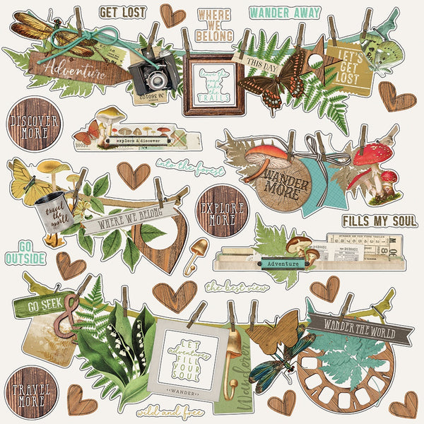 Simple Stories - SV Great Escape Collection - Banner Cardstock Stickers