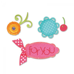 Sizzix - Sizzlits Die Set 3PK - Sweet Treats for You Set