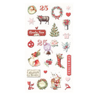 Prima - Christmas In The Country Collection - Puffy Stickers