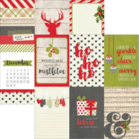 Simple Stories - Claus & Co Collection - 4x6 Vertical Journaling Card Elements