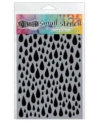 Dylusions Stencil - Teardrops, Small