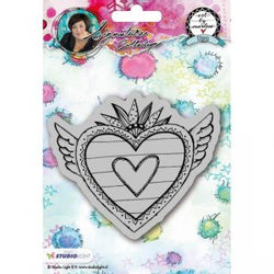 Art By Marlene: Hearts Stamp no. 24(with wings)