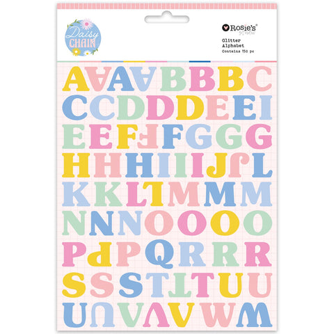Rosie's Studio - Daisy Chain Collection - Glitter Cardstock Alphabet (2 Sheets)