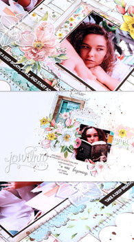 Beauty In Bloom Double Page Layout